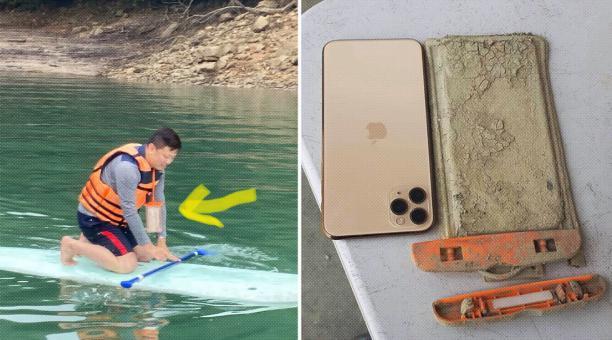 Los lugareños de Nantou contactaron a Chen Yj para devolverle su Iphone. Foto: Facebook @yj.chen.940
