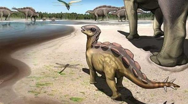 Ilustración del estegosaurio del tamaño de un gato. Foto: Europa Press / Universidad de Queensland
