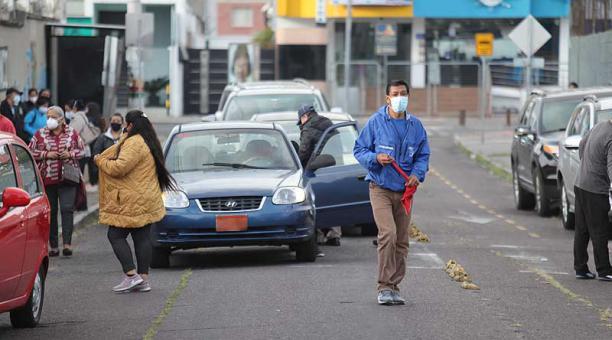 Quito es la ciudad del país con más personas contagiadas registradas. Hasta este 18 de abril del 2021 se contabilizaron 116 153 casos de covid-19. Foto: Julio Estrella / EL COMERCIO