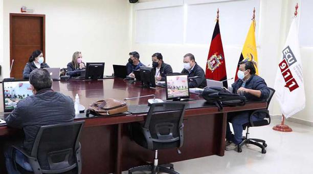 Las mesas técnicas del COE nacional se reunieron el 17 y 18 de abril del 2021. Foto: ECU 911