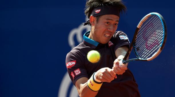 Kei Nishikori se impuso en la primera ronda del Conde Godó al español Guido Pella. Foto: EFE