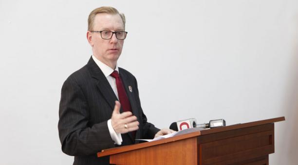 Michael Fitzpatrick, embajador de Estados Unidos en Ecuador. Foto: Archivo EL COMERCIO