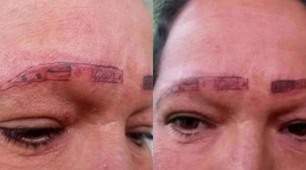 Los acusados se defendieron argumentando que la mujer tenía la piel maltratada y que por eso no había salido bien el tinte de las cejas. Foto: Tomado de Diario El Tiempo de Colombia
