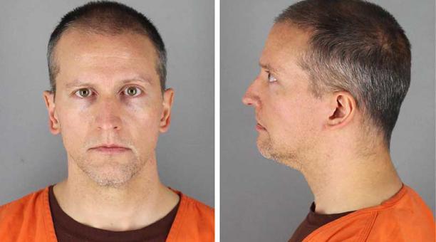 El exagente de policía acusado de matar al afroamericano George Floyd, Derek Chauvin, fue declarado culpable de los tres cargos que enfrentaba. Foto: EFE /  Hennepin County Sheriff's Office