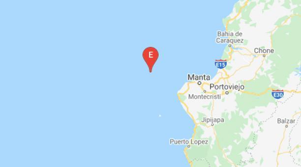 El movimiento telúrico ocurrió a 51,01 kilómetros al noroeste de la ciudad de Manta