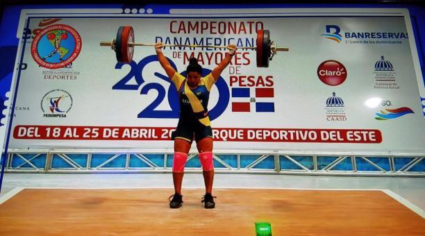 Alexandra Escobar durante su participación en República Dominicana. Foto: Captura de pantalla