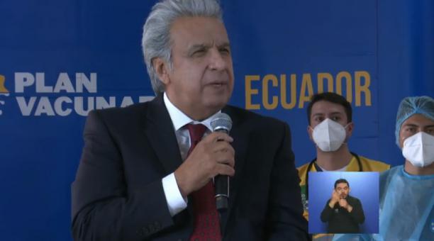 El presidente Lenín Moreno cuestionó la presencia de una delegada de Nicolás Maduro en la Cumbre Iberoamericana. Foto: Facebook Comunicación Ecuador
