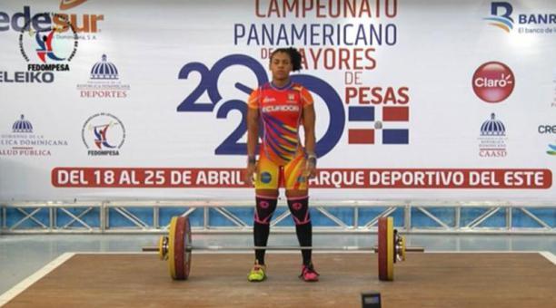 Paola Palacios peleó por el primer lugar en el Panamericano de Santo Domingo, el 21 de abril del 2021. Foto: captura de pantalla