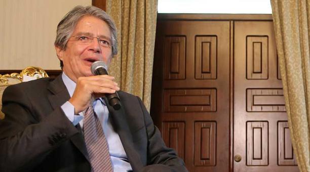 El presidente electo Guillermo Lasso anunciará su Gabinete en Quito. Foto: Vicente Costales / EL COMERCIO