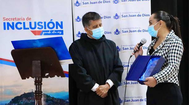 La Secretaría de Inclusión de la Alcaldía de Quito informó que el proyecto en el Albergue San Juan de Dios tuvo una inversión de USD 43 000. Foto: Twitter Albergue San Juan de Dios