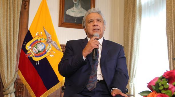 El presidente Lenín Moreno decretó el Estado de excepción y el confinamiento fines de semana en 16 provincias de Ecuador. Foto: Vicente Costales / EL COMERCIO
