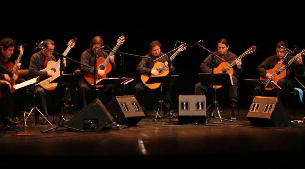El Ensamble de Guitarras de Quito estará en el show 'El payador...'. Foto: cortesía artistas