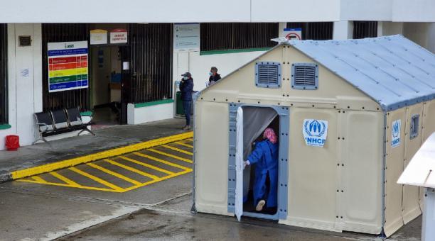 En la red de salud pública y privada de Loja ya no hay disponibilidad de camas UCI. Foto: Lineida Castillo / EL COMERCIO