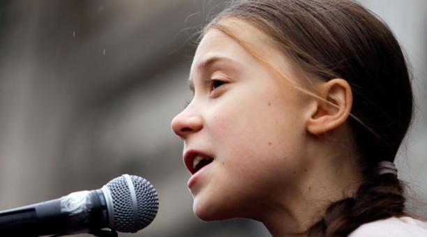 Greta Thunberg participó en un cumbre virtual a propósito del Día de la Tierra. Foto: Reuters