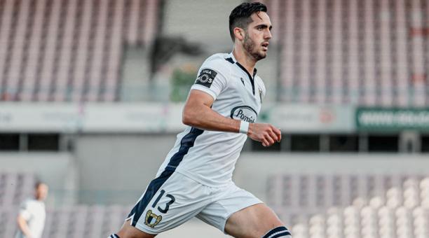 Leo Campana anotó para el FC Famalicao el 22 de abril del 2021. Foto de la cuenta Twitter @FCF1931_Oficial
