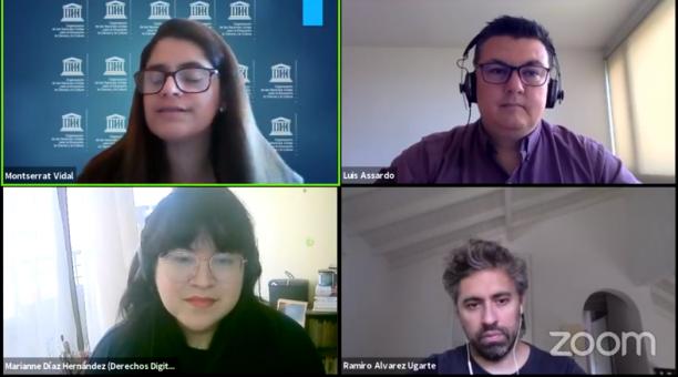 Agustina del Campo, directora del Centro de Estudios en Libertad de Expresión y Acceso a la Información (CELE), resaltó la importancia de definir en qué plataformas se piensa al abordar la moderación de contenidos. Foto: Captura de pantalla
