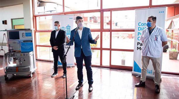 El Concejo Deliberante de Córdoba entregó el 21 de abril del 2021 equipamiento médico a un hospital local. Foto: Twitter Concejo Deliberante de Córdoba
