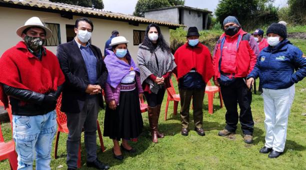 Los indígenas y campesinos que son parte de este plan trabajan en la conservación de 110 hectáreas de páramos y están agrupados en la Corporación de Organizaciones Campesinas de Pilahuín. Foto: Cortesía