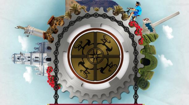 El afiche con el que se promocionaba la competencia en Tulcán. Foto: GAD Tulcán
