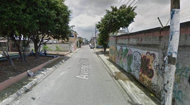 El hecho ocurrió en la ciudadela Las Orquídeas, en el norte de Cuenca. Foto: Captura Google Street View