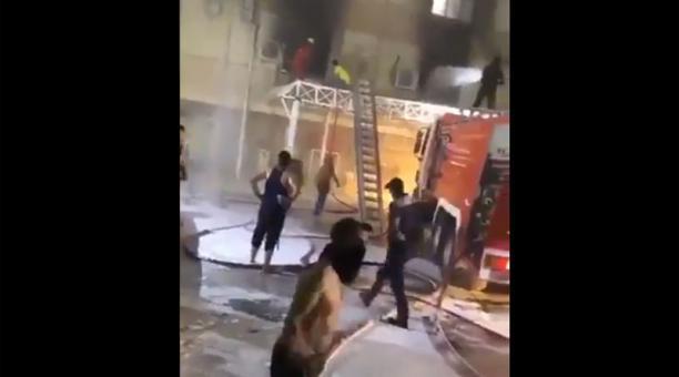 Hasta el momento, las autoridades iraquíes no han dado un recuento de víctimas oficial. Foto: Captura