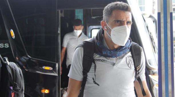 Los jugadores de Independiente del Valle viajaron hasta Brasil, este 25 de abril de 2021. Foto: Twitter del club