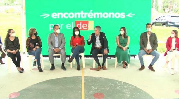 El presidente electo, Guillermo Lasso, presentó a los ministros del frente social el 26 de abril del 2021. Foto: Captura