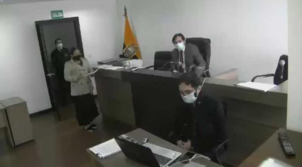 Este 26 de abril del 2021 se realizó la audiencia preparatoria de juicio en el caso pruebas covid-19 para Quito. Foto: Twitter Fiscalía