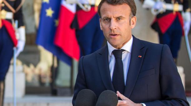 El presidente de Francia, Emmanuel Macron, saludó al presidente electo de Ecuador, Guillermo Lasso, por su triunfo en las elecciones. Foto: EFE