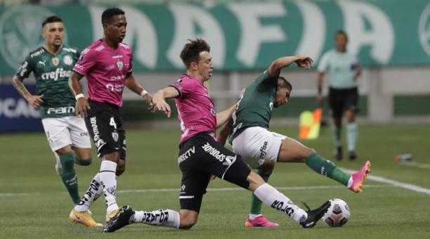 Palmeiras e IDV en la Copa Libertadores el 27 de abril del 2021. Foto: @Libertadores