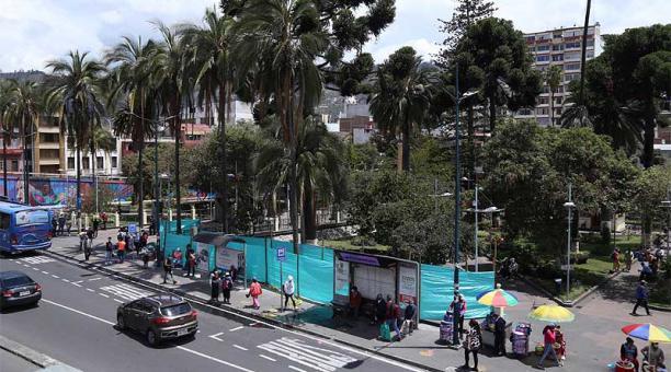 El proyecto de regeneración urbana Bicentenario es impulsado por el Municipio de Ambato. Foto: Glenda Giacometti / EL COMERCIO