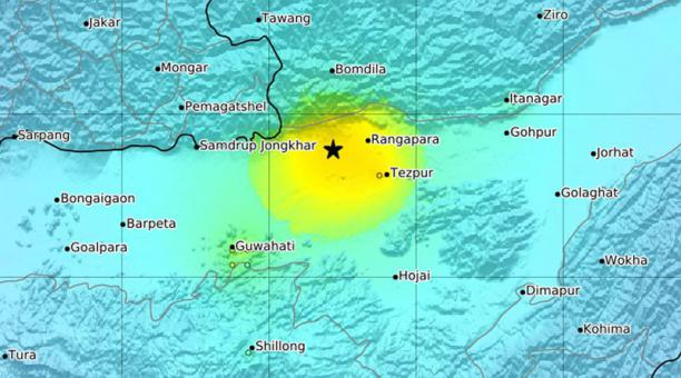 Un sismo de 6.4 grados en la escala de Richter se registró en Assam, India, el 28 de abril del 2021. Foto: EFE