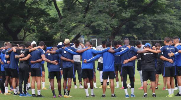 El entrenamiento de Emelec, previo al partido ante Bragantino por la Copa Sudamericana. Tomado de Emelec