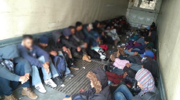 Un grupo de migrantes centroamericanos después de ser rescatados en Ciudad Camargo, Tamaulipas, México. Foto: REUTERS