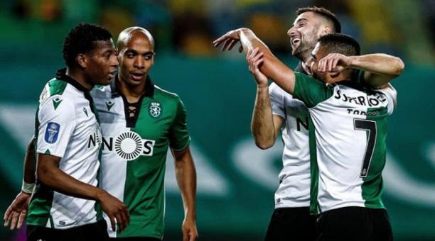 Gonzalo Plata, jugador del Sporting Club de Portugal. Foto de la cuenta Twitter @Gonzalo_Plata20