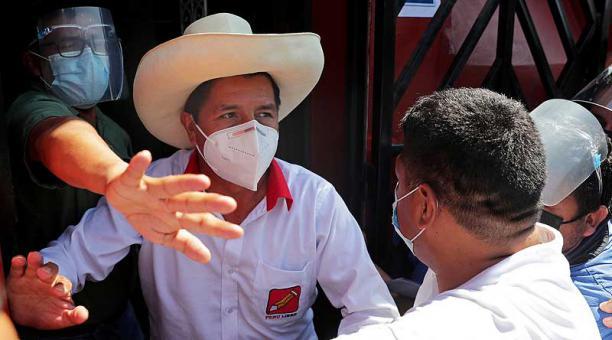 El candidato Pedro Castillo sufrió una