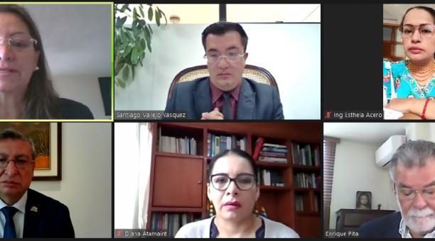 Después de las elecciones del 7 de febrero del 2021, el CNE adjudicó los escaños de asambleístas el viernes 30 de abril del 2021, durante una reunión virtual. Foto: Twitter CNE