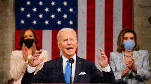 El presidente Joe Biden anunció esta semana el impuesto a las grandes fortunas para financiar su plan de reactivación. Foto: EFE