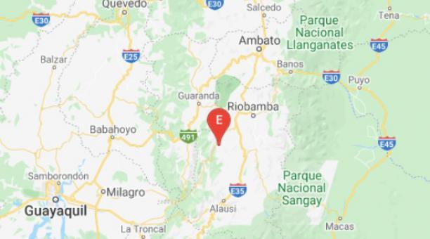 Usuarios reportaron que el sismo se sintió en lugar como Riobamba y Ambato. Foto: Twitter Instituto Geofísico