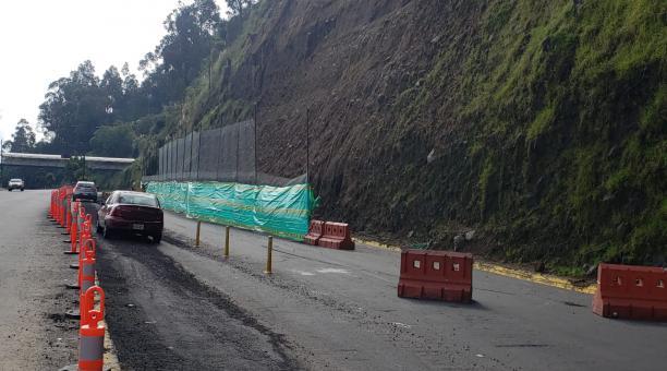 La Prefectura informó que los trabajos se encuentran en una segunda fase. Foto: Cortesía de la Prefectura de Pichincha