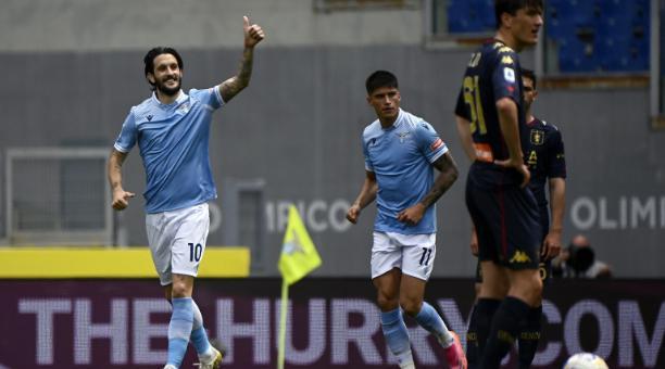 El español Luis Alberto celebra un gol de la Lazio. Foto: EFE