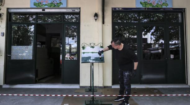 Grecia permitirá la reapertura de bares y restaurantes, como un paso a la reactivación ante la pandemia del covid-19. Foto: EFE