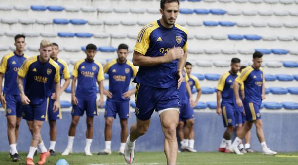 El plantel e Boca Juniors se entrenó en el estadio Capwell este lunes 3 de mayo del 2021. Tomado de Boca Juniors