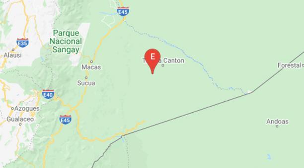 Según el Instituto Geofísico de la Escuela Politécnica Nacional, el sismo ocurrió a las 04:38 hora local