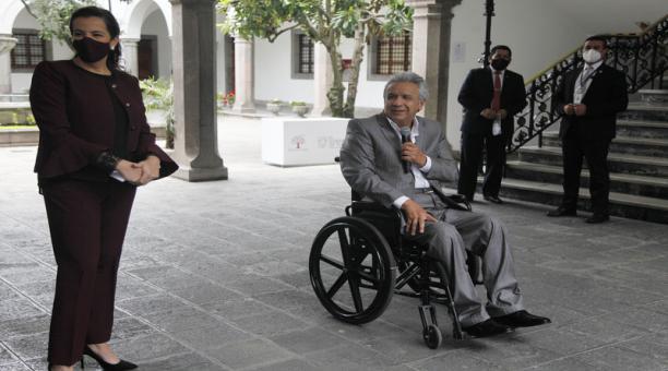 El presidente de la República, Lenín Moreno y la ex ministra de Gobierno, María Paula Romo, viajarán a Miami, Estados Unidos, para participar en el 'Foro para la Defensa de la Democracia' que se desarrollaré entre el 4 y 7 de mayo del 2021. Foto: ARCHIVO