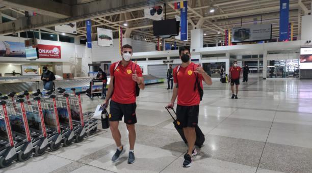 La delegación de Aucas llegó a Venezuela para su tercer juego de la Copa Sudamericana. Foto: Twitter del club