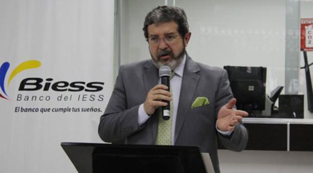 Diego Burneo, Gerente General del Banco del Instituto Ecuatoriano de Seguridad Social. Foto: Tomada de la cuenta Twitter @BiessEcuador