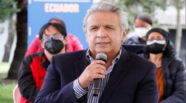 Según el presidente Lenín Moreno, 'el proceso de vacunación avanza a pasos agigantados'. El primer mandatario planea vacunar a dos millones d personas hasta el fin de semana. Foto: Captura de pantalla