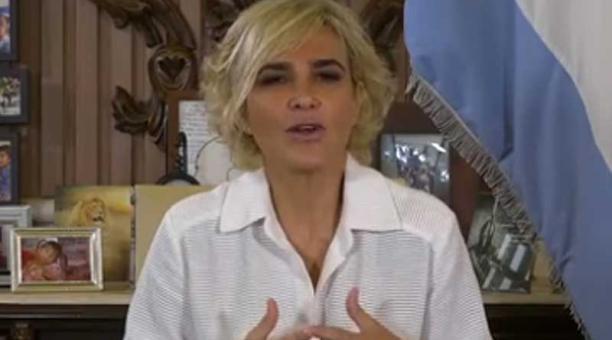 A través de sus redes sociales, la alcaldesa Cynthia Viteri emitió un pronunciamiento en relación a la investigación que la Fiscalía abrió en su contra por un presunto delito de peculado. Foto: captura