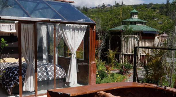 Instalaciones de la Hostería Munay, ubicada en Nayon. Foto: Diego Pallero / El Comercio